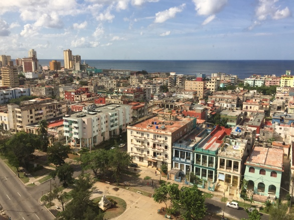 The view of Vedado, one of Havana's neighborhoods.